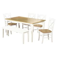Tiffany 6-pc. Dining Table Set - White