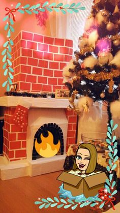 fireplace from cartoon