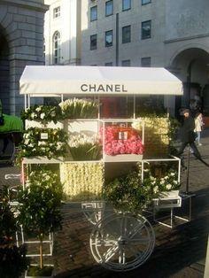 Chanel flower cart..<3