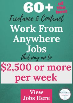 Are you looking for a flexible job? Want to travel and work or maybe work from your home office? Click thru here to see fresh jobs offering great pay and flexibility.