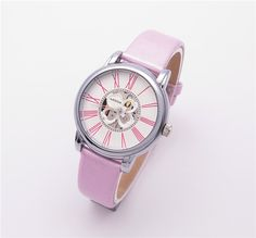 pink leather band pink wrist watch for women WESTCHI BRAND DESGN