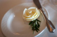 Beautiful rose made out of butter