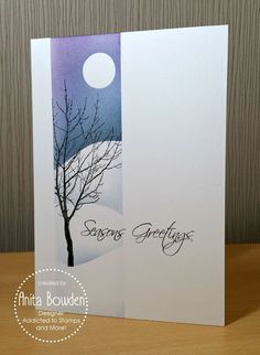 Anita Bowden: Inkylicious Simply Trees; Happy Little Stampers Mixed Christmas Sentiments; Distress Inks