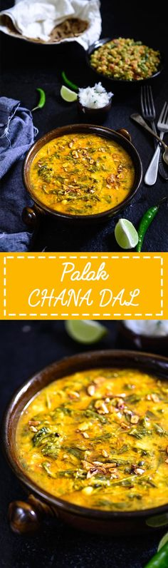 Palak Chana dal. A healthy protein rich lentil and spinach soup. Food Photography and Styling by Neha Mathur.