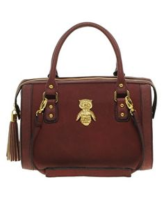 ASOS Tassel Bowler Bag With Owl Fitting - the owl is just the best part!