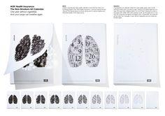 Un año sin fumar. Y los pulmones pueden volver a respirar.    Agencia: Serviceplan Health & Life, Munich, Alemania    Director Creativo: Mike Rogers    Director de Arte: Wolfgang Nagel    Redactor: Christoph Bohlender    Publicado: Enero 2011