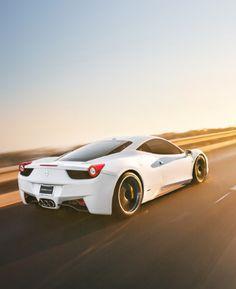White Ferrari 458 Italia #CarFlash