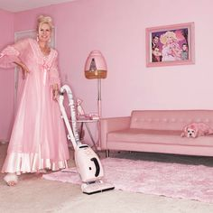 Kitten Kay Sera: The pink lady with the pink dog - Telegraph Rosa Pink, I Believe In Pink, Bling, Domestic Goddess, Pink Dog, Everything Pink, My Favorite Color, Favorite Things, One Color