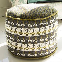 Knitted Duck Pouffe by The Other Duckling - As a cute seat or footstool, this snuggly knitted pouffe would make a striking addition to your sitting room or den.