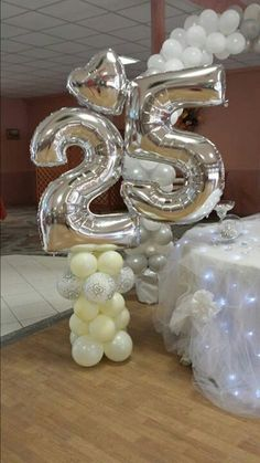 Balloons Anniversary On Pinterest Balloon Centerpieces 50th Wedding Anniversary And 50th