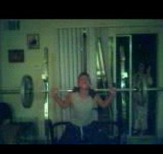 Reposted: When I was in 10th grade my brother took this picture of me doing squats this was the result... To this day can't explain what or who that could be.