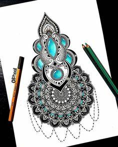 Doodle Art Drawing, Zentangle Drawings, Mandala Drawing, Pencil Art Drawings, Zentangles, Mandala Art Lesson, Mandala Artwork, Palm Henna Designs, Doodle Art Designs