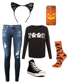 """""""Halloween festive!"""" by livvie47 on Polyvore featuring AG Adriano Goldschmied, Topshop and Converse"""