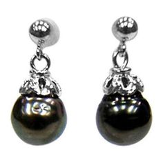 Natural Genuine Tahitian Cultured Pearl Dangle Earrings  #Unbranded #Dangle http://stores.ebay.com/JEWELRY-AND-GIFTS-BY-ALICE-AND-ANN