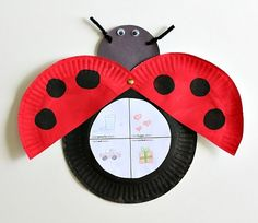 Hereu0026 an easy paper plate ladybug craft for kids to go along with Eric Carleu0026 The Grouchy Ladybug. The ladybug craft also includes a free printable children ... & Paper Plate Ladybug ~ simple spring kids craft | Ladybugs ...
