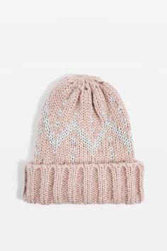 5c603156bde Pink Glitter Knitted Beanie Knit Beanie Hat