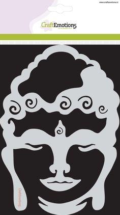 185070/1081  CraftEmotions Mask stencils Happiness - Buddha mask A5