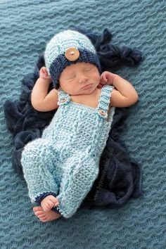 Baby outfit - Baby Overalls and beanie - Crochet baby boy outfit - Baby Photo Prop on Etsy, | http://kidoutfit.micro-cash.org