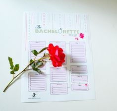 Free printable bachelorette brackets - The Bachelorette viewing party games for a girls night in! #bachelorette