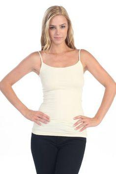 Kurve Basic Long Camisole Women's Cream One Size Fits Most Kurve. $16.00