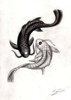Ying Yang Carpe Koi (projet tattoo)