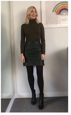 20 ideas how to wear skirts in winter tights 2020 – dress outfits with t… 20 ideas how to wear skirts in winter tights 2020 – dress outfits with tights dresses to wear with tights dresses with black tights dresses with tights Black Tights Outfit, Winter Skirt Outfit, Skirt Outfits, Dress Winter, Dress With Tights, Winter Dresses, Black Work Outfit, Winter Outfits, Green Tights