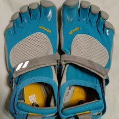 Vibram Fivefingers Barefoot Five Finger Sneakers Nice condition. Blue, white & gray. Vibram Shoes Athletic Shoes