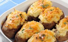 Weight Watchers Recipes, Weight Watchers Twice Baked Potatoes Recipe To Help With Your Diet Plan. Weight Watchers 2 PointsPlus Twice Baked Potatoes Recipe. Making Baked Potatoes, Stuffed Baked Potatoes, Twice Baked Potatoes, Mashed Potatoes, Best Potato Recipes, Ww Recipes, Cooking Recipes, Healthy Recipes, Lunch Recipes