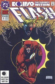 The Flash (DC, 1987) Annual #5 signed by Dan Davis, Craig Boldman, and Mark Waid