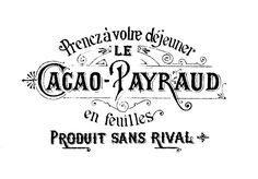Transfer Printable - French Chocolate - Cacao - The Graphics Fairy