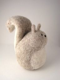 Fat felted squirrel
