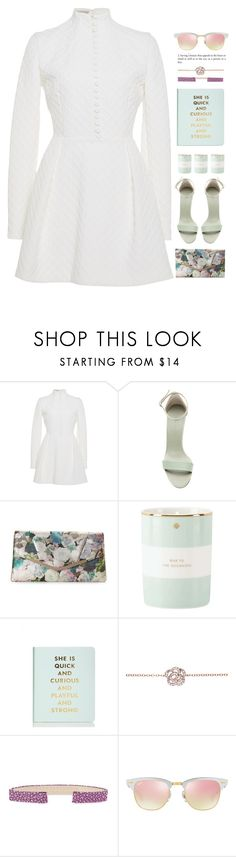 """""""*1812"""" by cutekawaiiandgoodlooking ❤ liked on Polyvore featuring Emilia Wickstead, Victoria Beckham, Jessica McClintock, Kate Spade, EF Collection, Aaron Basha, Ray-Ban, romantic, pastels and brunchgoals"""