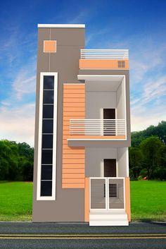 Indian house design, small house design, house plan with elevation, Nikshail House Design House Front Wall Design, House Floor Design, Duplex House Design, Small House Design, Modern House Design, Front Design, 20x30 House Plans, Modern House Plans, Casa Farnsworth