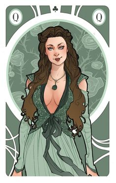 Game of Thrones' cards | Queen Margaery Tyrell by SimonaBonafiniDA on deviantART
