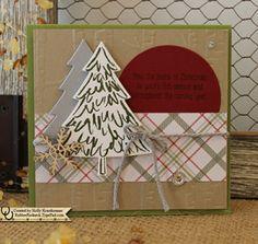 TRRSC56 Peaceful Pines Photopolymer Stamp Set item #139728 Bundle: Peaceful Pines & Perfect Pines Framelits item #140850 Big Shot item #113439 Perfect Pines Framelits item #139665 Circle Framelits item #130911 Woodland Texture Impressions Embossing Folder item #139673 Stampin' Up! Demonstrator Holly Krautkremer