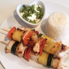 The Body Coach: Chicken & pineapple kebab