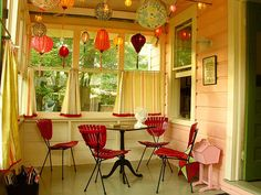 VERY RAMONA! I'd love this for a porch/game room