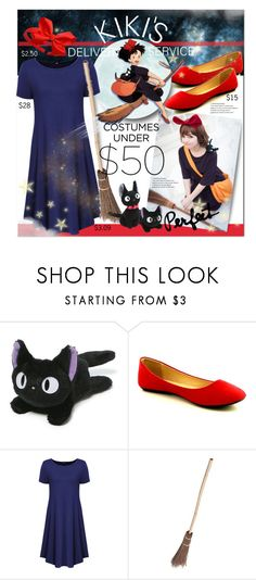 """""""Costumes Under $50: Kiki's Delivery Service"""" by mew-muse ❤ liked on Polyvore featuring Gund, Refresh, WithChic, Halloween and halloweencostume"""
