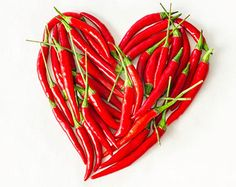 Red Hot Chili Pepper Heart Wreath Dried Chili by SteliosArt