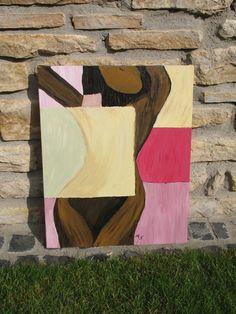 """Acrylmalerei - """"verdeckte Weiblichkeit"""" - ein Designerstück von n8kunst-z-wergk bei DaWanda"""