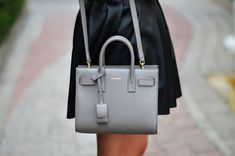 Trendy Women's Purses : Little gray YSL bag. Ysl Handbags, Mini Handbags, Fashion Handbags, Purses And Handbags, Fashion Bags, Women's Fashion, Fendi, Gucci, Givenchy