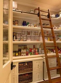 Love this idea for a walk in pantry.