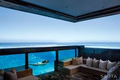 See-through Pool Walls, Outdoor Living Space, St Leon 10 in Cape Town, South Africa by SAOTA and Antoni Associates