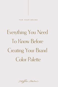 Learn How to Create Your Brand Color Palette using Color Theory and understanding how to use them within your brand. Personal Branding, Branding Your Business, Creative Business, Logo Branding, Corporate Branding, Business Tips, Business Logos, 3d Logo, Personal Logo