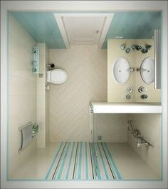 Bathroom Design, Small Bathroom Ideas: Pick The Best Small Bathroom Designs Ideas. Small Bathroom Remodel On A Budget Small Bathroom Layout, Simple Bathroom, Modern Bathroom, Master Bathroom, Bathroom Pink, Narrow Bathroom, Bathroom Colors, Small Bathroom Plans, Small Shower Room