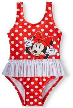 36c8ae5ea284f Minnie Mouse Polka Dot Tutu One Piece Swimsuit (Baby Girls)