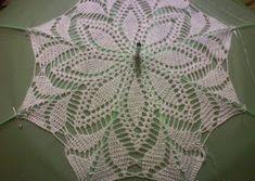 Free crochet patterns and video tutorials: How to crochet umbrella free pattern Crochet Wedding Dress Pattern, Crochet Tunic Pattern, Crochet Wedding Dresses, Crochet Summer Dresses, Crochet Blanket Patterns, Crochet Stitches, Crochet Sunflower, Crochet Daisy, Crochet Doilies
