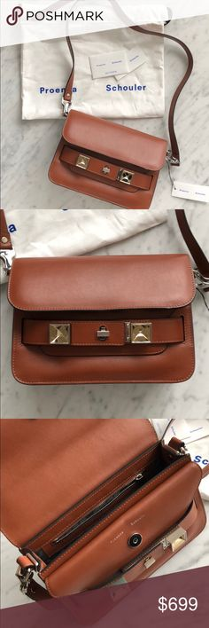 """Proenza Schouler PS11 Mini Bag Tan Item is in excellent condition. Gently used for a few times. Comes with original dust bag and authentication card. Bag is made from smooth calf leather.  measurement Length: 9.5"""" Width: 3.5"""" Height: 6.25"""" Strap length: 24"""" / 18"""" drop Proenza Schouler Bags Shoulder Bags"""