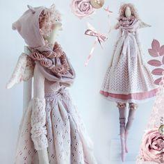 Купить Интерьерная кукла Тильда Ханна - бледно-розовый, тильда, кукла, кукла Тильда ♡