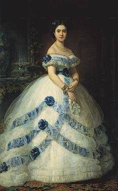 1868 Isabel Álvarez Montes, duquesa de Castro Enríquez and Marquesa de Valderas by Federico de Madrazo y Kunz